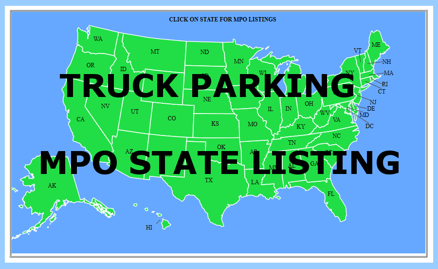 Truck Parking MPO State Listing Directory